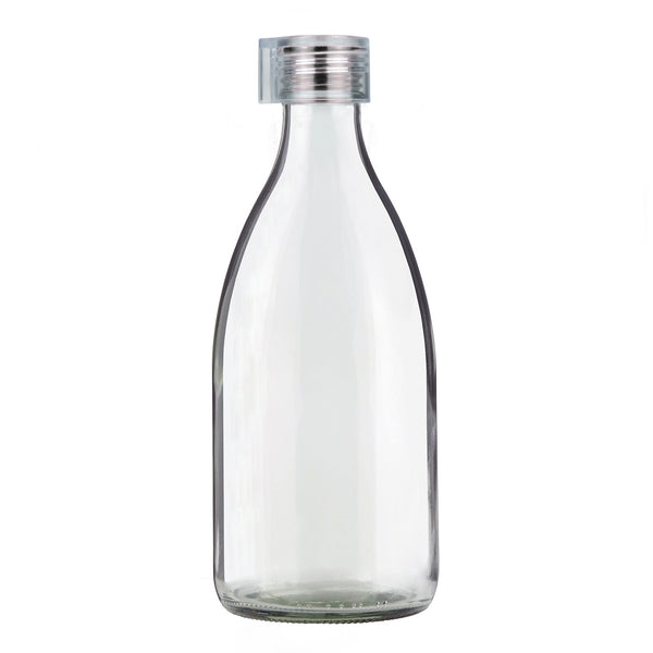 5bd578bae1 Clear 1.0L Fridge Glass Bottle - Clear Lid
