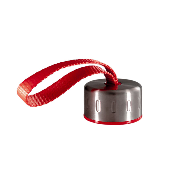 RED STAINLESS STEEL STRAP LID