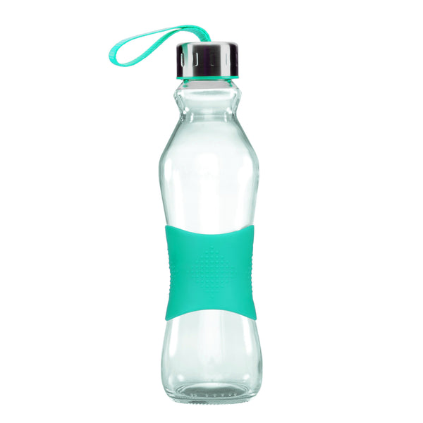 500ML TURQUOISE GRIP - STRAPPED LID
