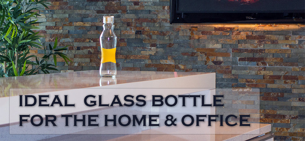 Ideal glass bottle for the home and office