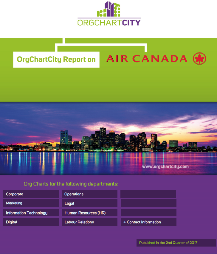 Air Canada Org Charts by OrgChartCity