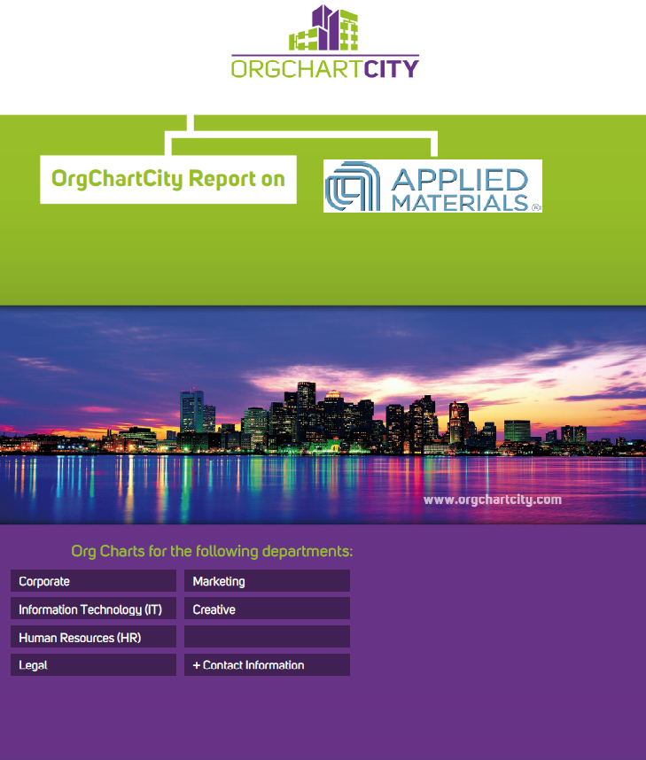 Applied Materials Org Charts by OrgChartCity