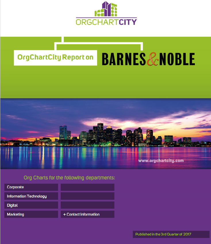 Barnes & Noble Org Charts by OrgChartCity