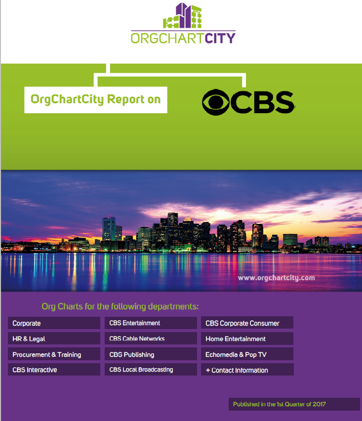 CBS Org Charts Report by OrgChartCity