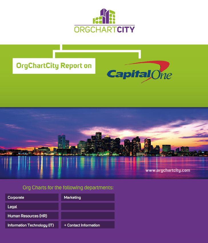 Capital One Org Charts Report by OrgChartCity (NYSE: COF)