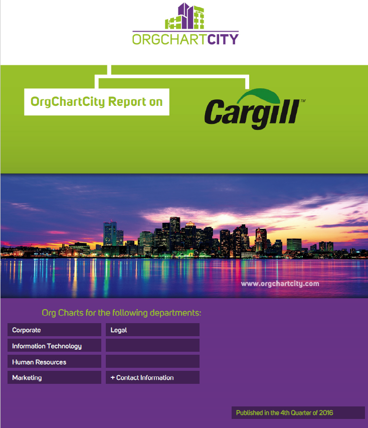 Cargill Org Charts by OrgChartCity