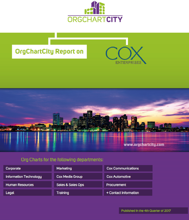 Cox Enterprises Org Charts by OrgChartCity