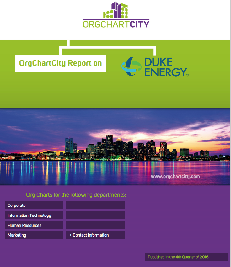 Duke Energy Org Charts by OrgChartCity