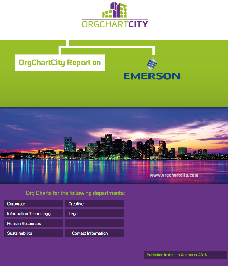 Emerson Electric Org Charts by OrgChartCity