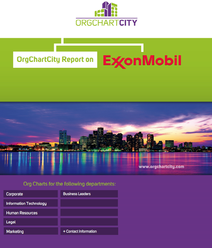 Exxon Mobil Org Charts by OrgChartCity