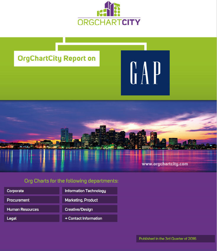 The Gap Org Charts by OrgChartCity (NYSE: GPS)