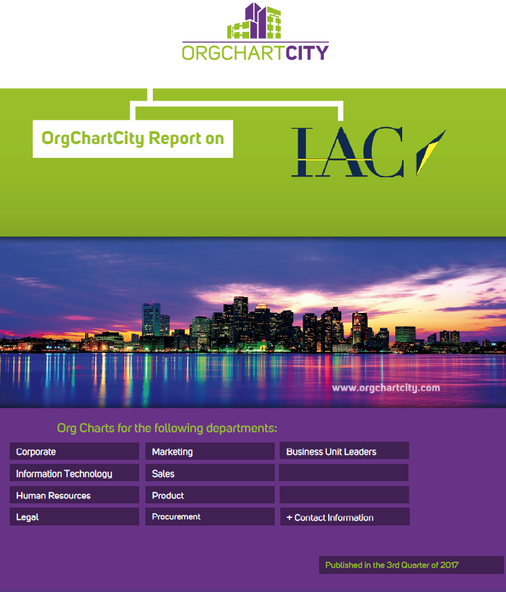 IAC InterActiveCorp Org Charts by OrgChartCity