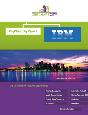 IBM Organizational Structure by Org Chart City (NYSE: IBM) - OrgChartCity
