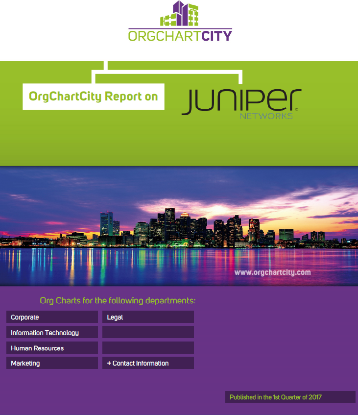 Juniper Networks Org Charts by OrgChartCity