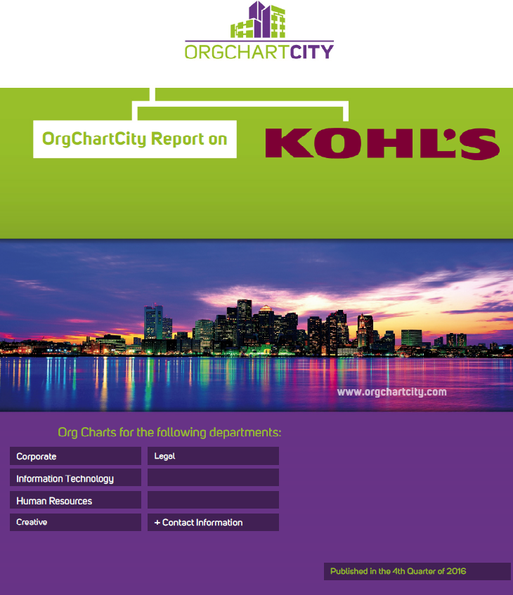 Kohl's Org Chart Report by OrgChartCity
