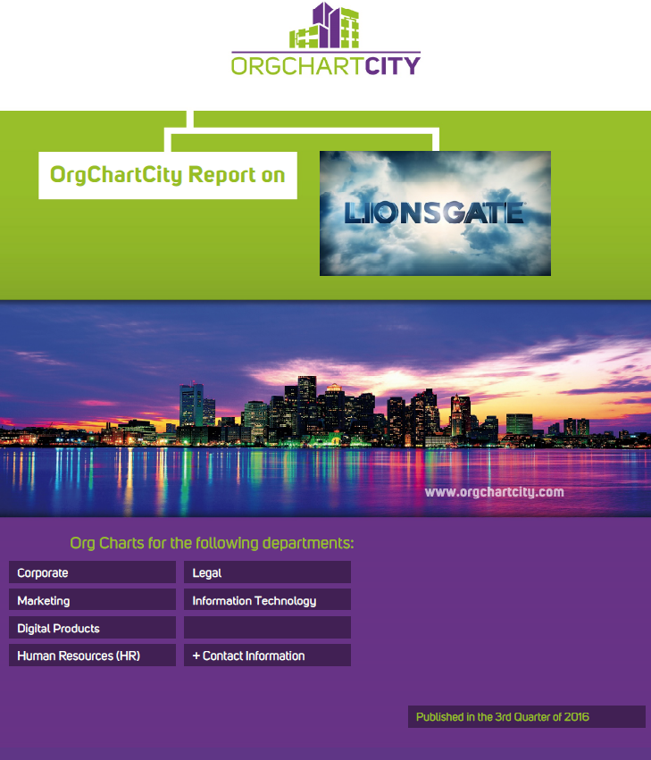 Lionsgate Entertainment Corp. (NYSE: LGF) Org Charts by OrgChartCity