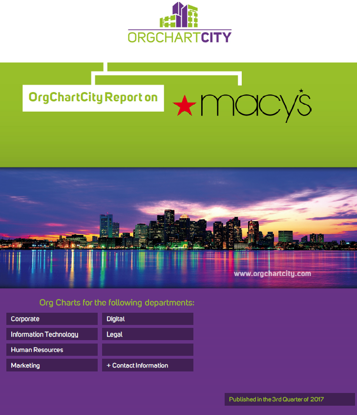 Macy's Org Charts by OrgChartCity