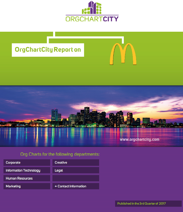 McDonald's Org Charts by OrgChartCity