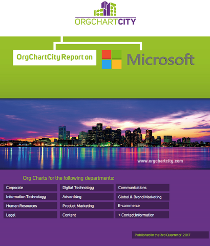 Microsoft Organizational Structure Report by OrgChartCity (NASDAQ: MSFT)