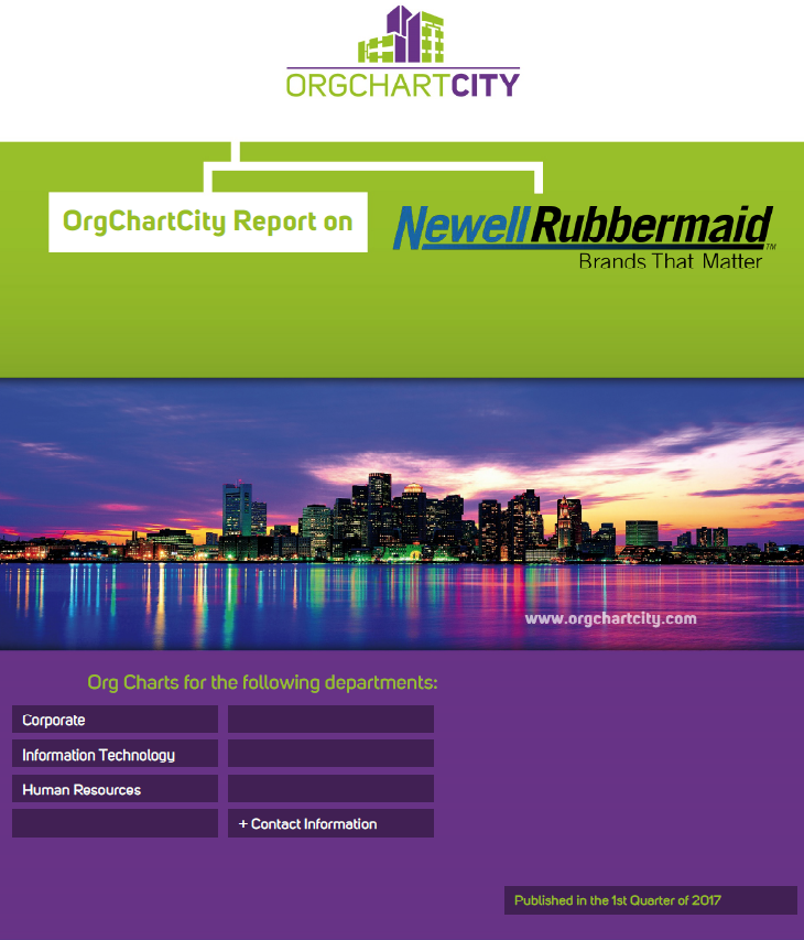 Newell Rubbermaid Org Charts by OrgChartCity