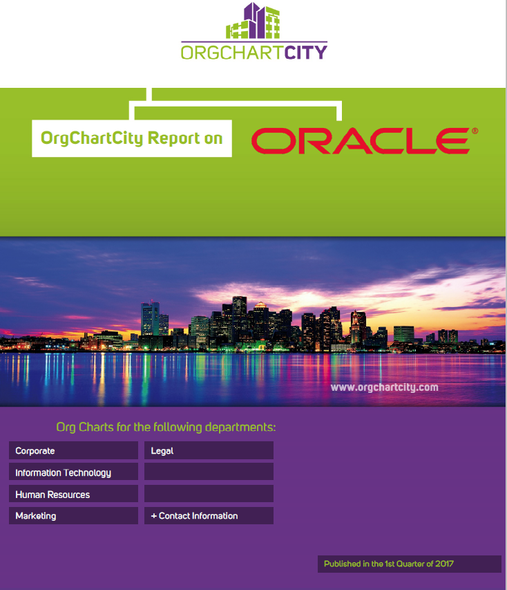 Oracle Org Charts by Org Chart City (NYSE: ORCL)