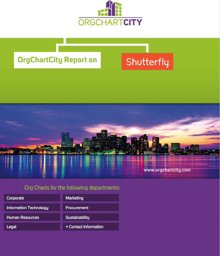 Shutterfly Org Charts by OrgChartCity