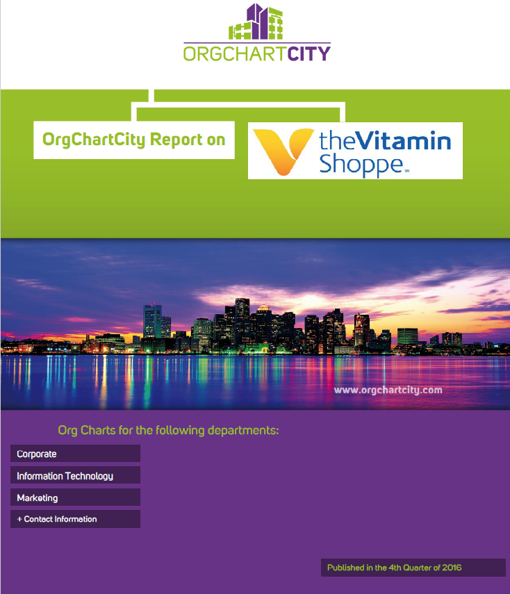 Vitamin Shoppe Org Charts by OrgChartCity