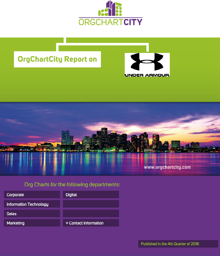 Under Armour Org Charts Report by OrgChartCity