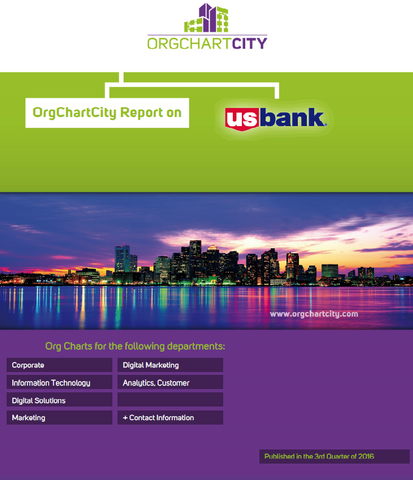 US Bank Organizational Structure by OrgChartCity (U.S. Bancorp - NYSE: USB)