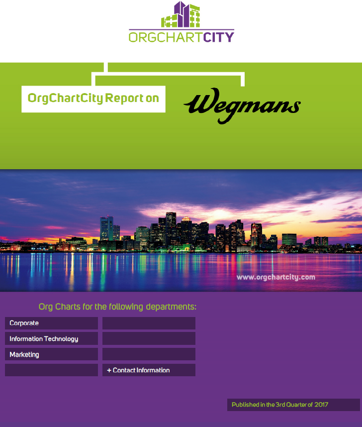 Wegmans Food Markets Org Charts by OrgChartCity