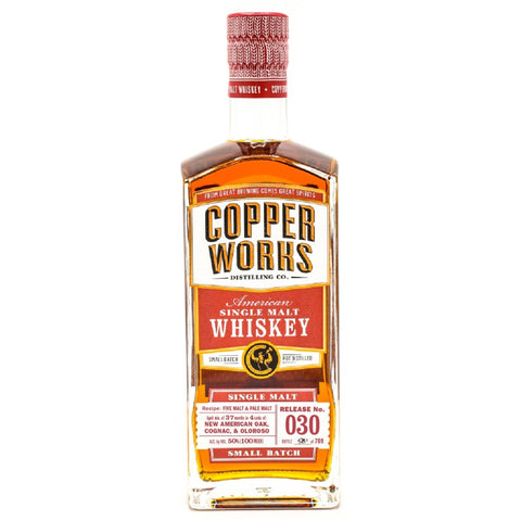 Copperworks American Single Malt Whiskey Release 030 (750ml)