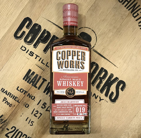 Copperworks American Single Malt Whiskey Release 019 Single Cask (750ml)
