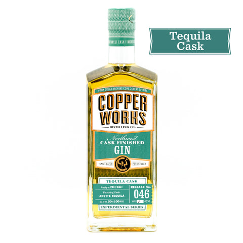 Copperworks Tequila Cask Finished Gin (750 ml)