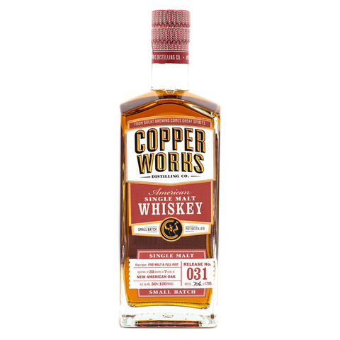 Copperworks American Single Malt Whiskey Release 031 (750ml)
