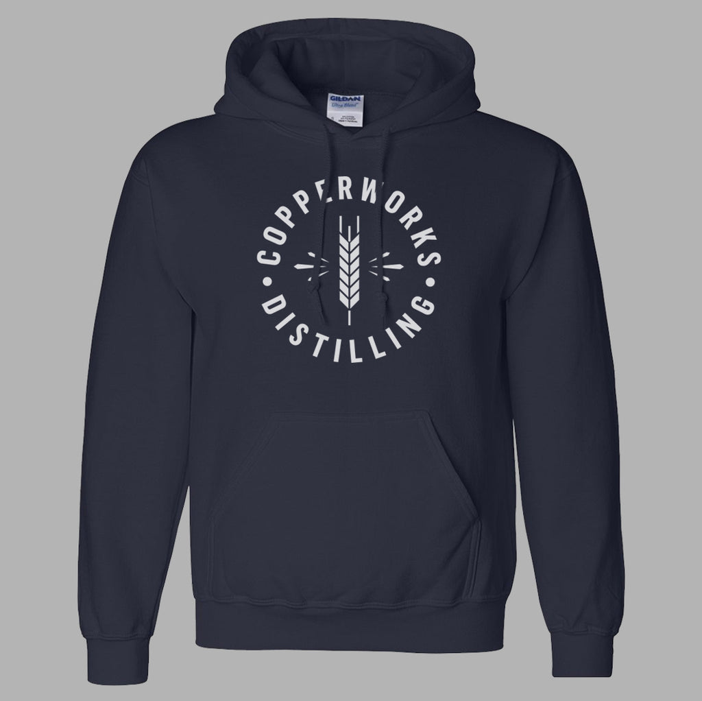 Copperworks Barley Burst Hooded Sweatshirt (Navy)