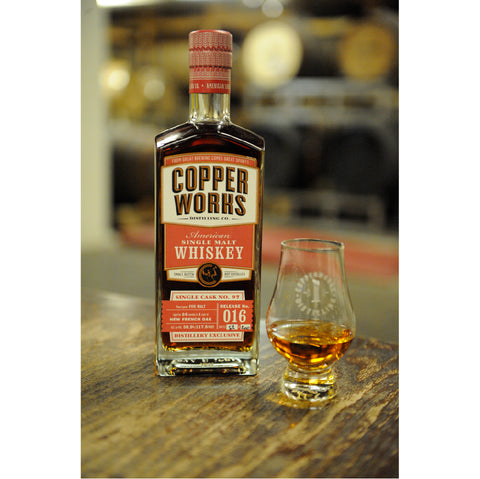Copperworks American Single Malt Whiskey Release 016 Single Cask (750ml)