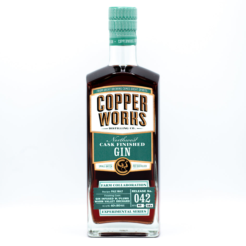 SOLD OUT! Copperworks Plum Cask Finished Gin (750 ml)
