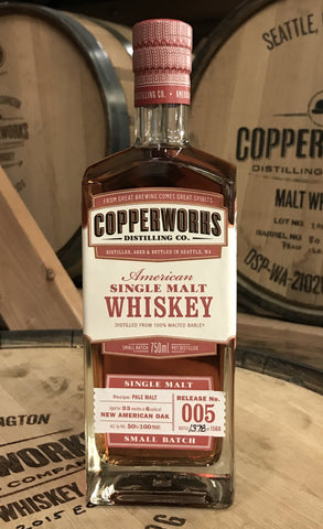 Copperworks American Single Malt Whiskey Release 005 (750ml)