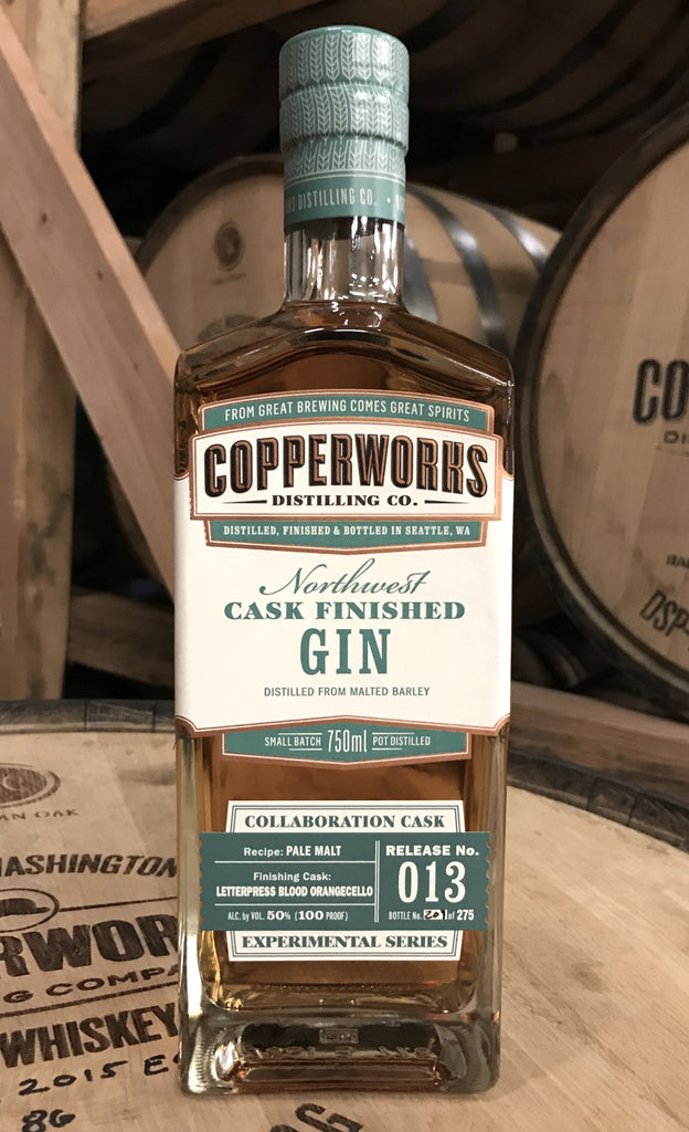 Copperworks Blood Orange Cask Finished Gin (750 ml)