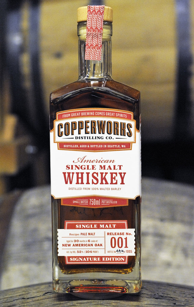 COPPER TICKET REDEMPTION - Copperworks American Single Malt Whiskey Release 001 (750ml)