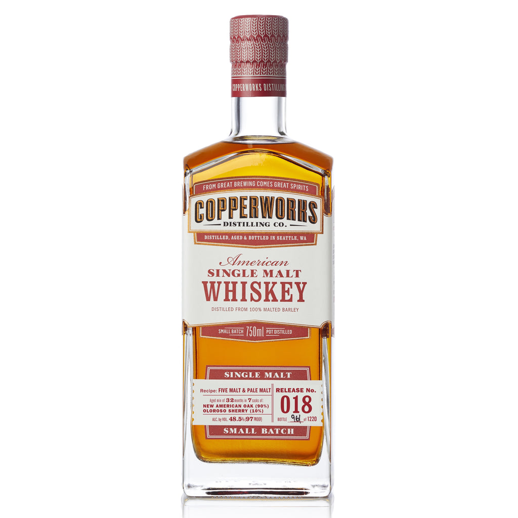 Copperworks American Single Malt Whiskey Release 018 (750ml)
