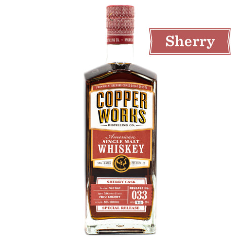 Copperworks American Single Malt Whiskey Release 033 Sherry Cask (750ml)