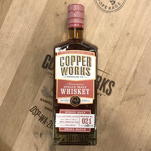 Copperworks American Single Malt Whiskey Release 021 (750ml)