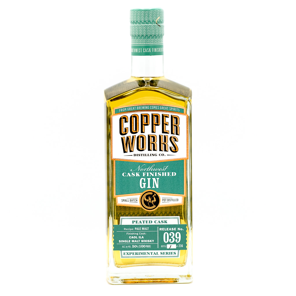 Copperworks Caol Ila Peated Cask Finished Gin (750 ml)
