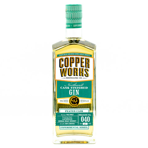 Copperworks Laphroaig Peated Cask Finished Gin (750 ml)