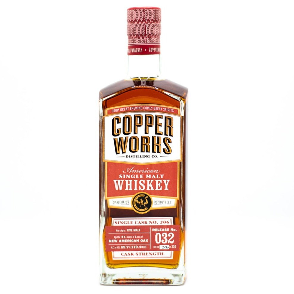 Copperworks American Single Malt Whiskey Release 032 Single Cask (750ml)