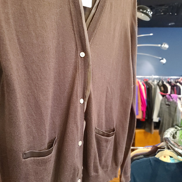 Jones NY Brown Cardigan PL - PopRock Vintage. The cool quotes t-shirt store.