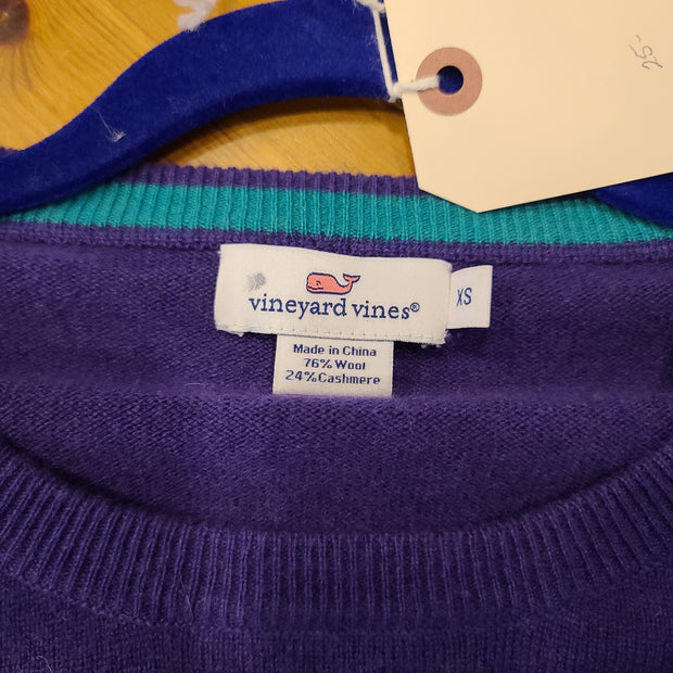 Vineyard Vines Purple Cashmere Sweater XS - PopRock Vintage. The cool quotes t-shirt store.