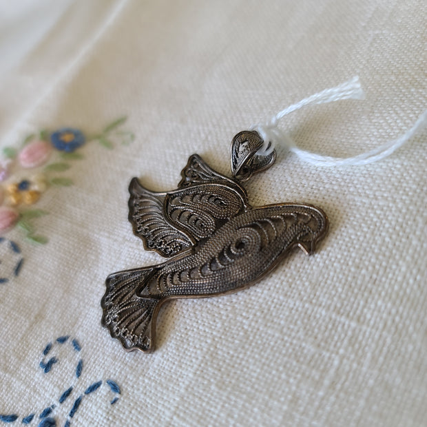 Vintage Filigree Bird Pendant - PopRock Vintage. The cool quotes t-shirt store.