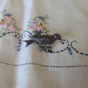 Sterling Silver 925 Bird on Branch Pin - PopRock Vintage. The cool quotes t-shirt store.